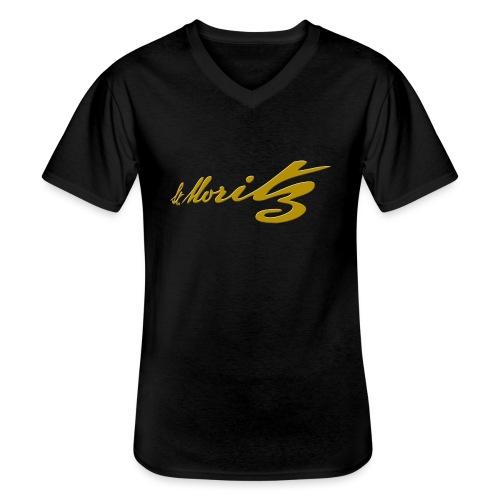 St. Moritz Schweiz Souvenir - Klassisches Männer-T-Shirt mit V-Ausschnitt