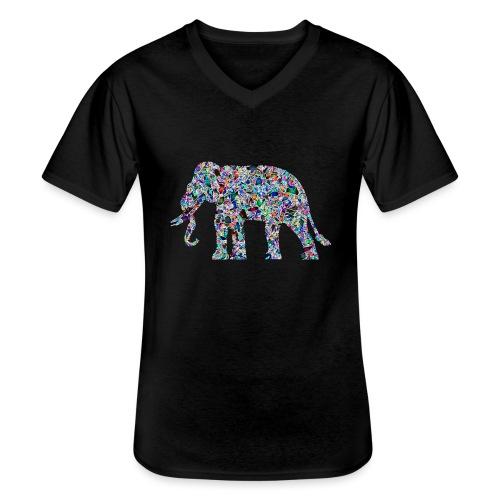 Elephant - Men's V-Neck T-Shirt