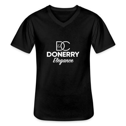 Donerry Elegance NEW White on Dark - Men's V-Neck T-Shirt