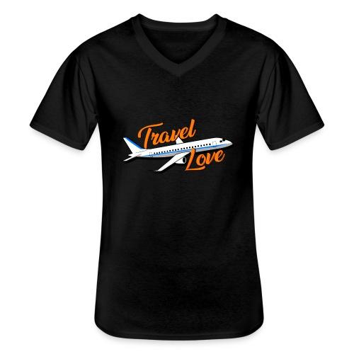 Travel love Air - Camiseta clásica con cuello de pico hombre