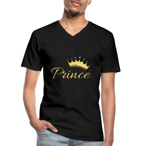 Prince Or -by- T-shirt chic et choc - T-shirt classique col V Homme