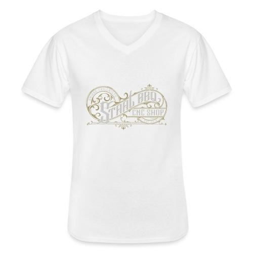 StaalBBQ - Klassisk herre T-shirt med V-udskæring