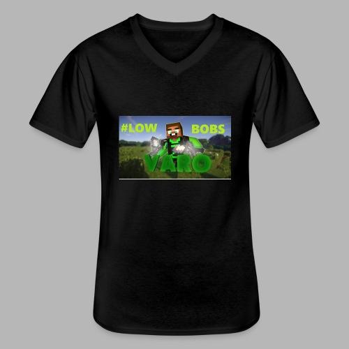 Varo #LOWBOBS Kapuzenpullover - Klassisches Männer-T-Shirt mit V-Ausschnitt
