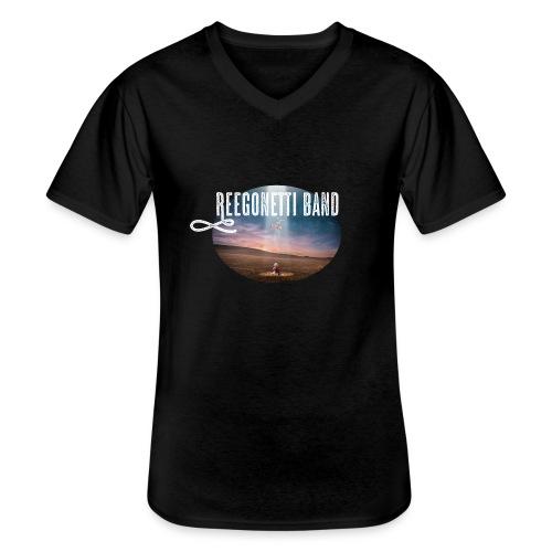 Reegonetti Band - Exploring the unknown - Klassisk T-shirt med V-ringning herr