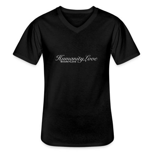 HumanityLove white - Klassisches Männer-T-Shirt mit V-Ausschnitt