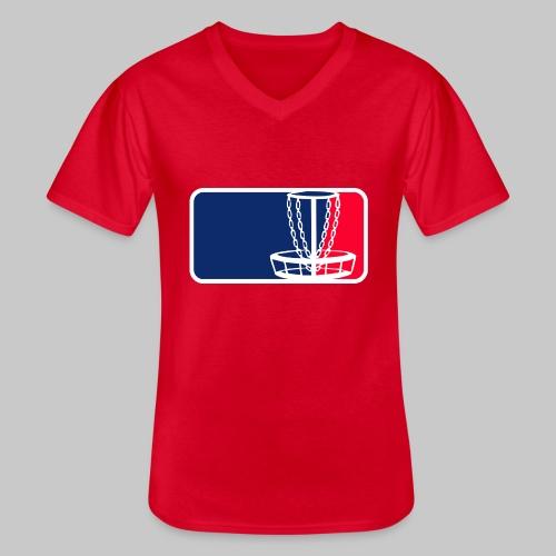 Disc golf - Klassinen miesten t-paita v-pääntiellä