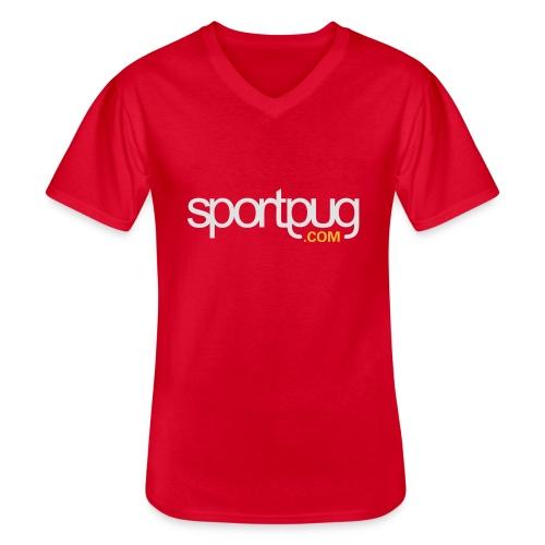 SportPug.com - Klassinen miesten t-paita v-pääntiellä