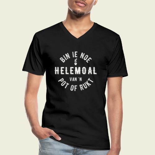 Bin ie noe helemoal van 'n pot of rukt - Klassiek mannen T-shirt met V-hals