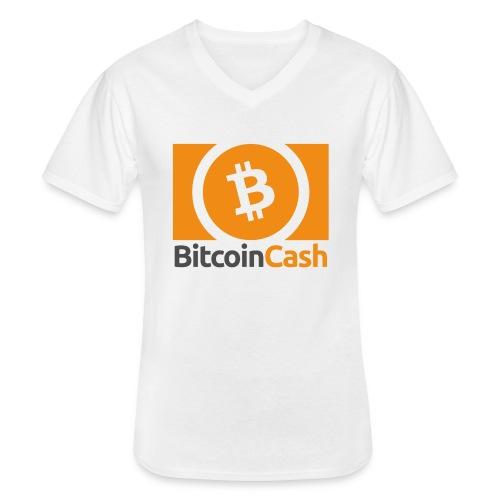 Bitcoin Cash - Klassinen miesten t-paita v-pääntiellä