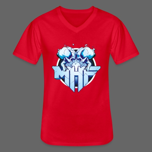 MHF New Logo - Men's V-Neck T-Shirt