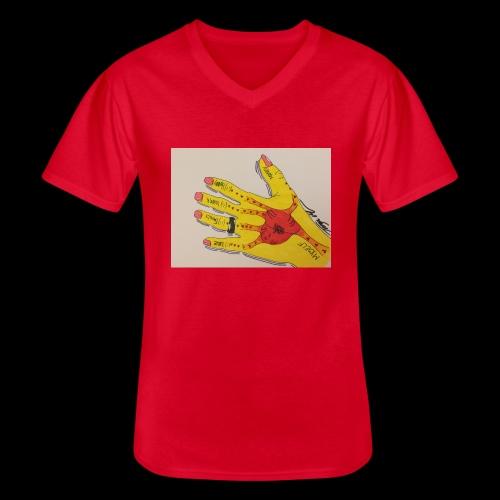 9D8D600F D04D 4BA7 B0EE 60442C72919B - Klassisk herre T-shirt med V-udskæring