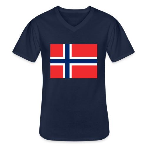 DixieMertch - Klassisk T-skjorte med V-hals for menn