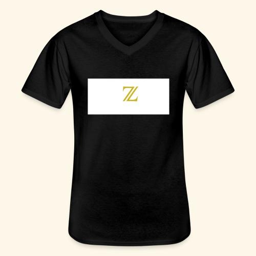 zaffer - Maglietta da uomo classica con scollo a V