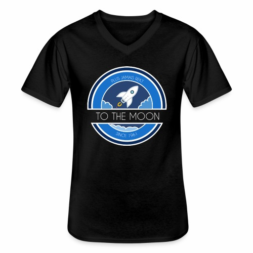 CryptoLoco - To the MOON ! - T-shirt classique col V Homme