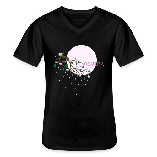 Cherry Blossom Festval Full Moon 1 - Klassisches Männer-T-Shirt mit V-Ausschnitt