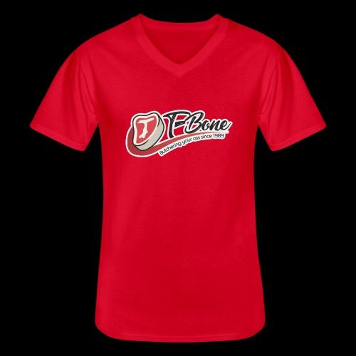 ulfTBone - Klassiek mannen T-shirt met V-hals