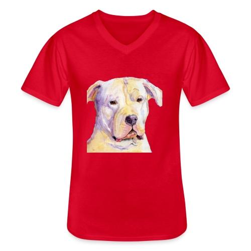 dogo argentino - Klassisk herre T-shirt med V-udskæring