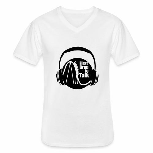 First Drop to Talk Logo - Klassisches Männer-T-Shirt mit V-Ausschnitt