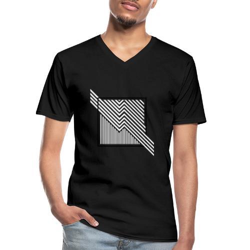 Lines in the dark - Men's V-Neck T-Shirt