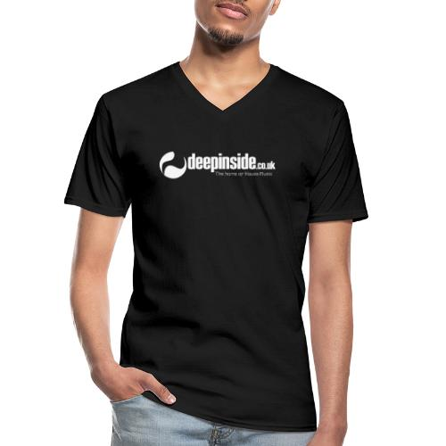 DEEPINSIDE The home of House-Music (White) - Men's V-Neck T-Shirt