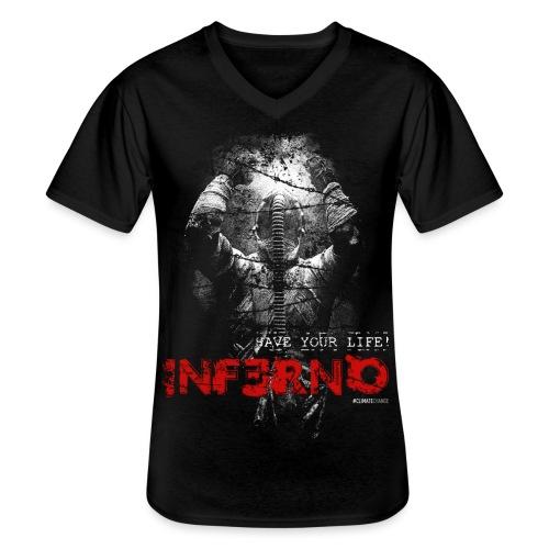 INFERNO | SAVE YOUR LIFE - Klassisches Männer-T-Shirt mit V-Ausschnitt