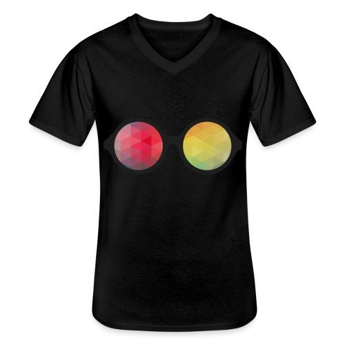 HipsterShades #1 - Klassisk herre T-shirt med V-udskæring