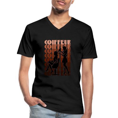 Coiffeur - Klassisches Männer-T-Shirt mit V-Ausschnitt