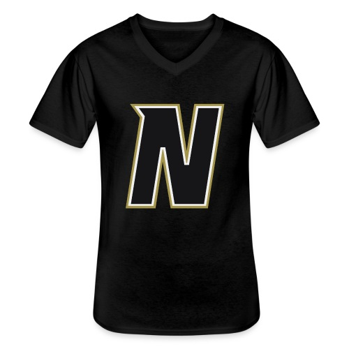 Nordic Steel Black N - Men's V-Neck T-Shirt