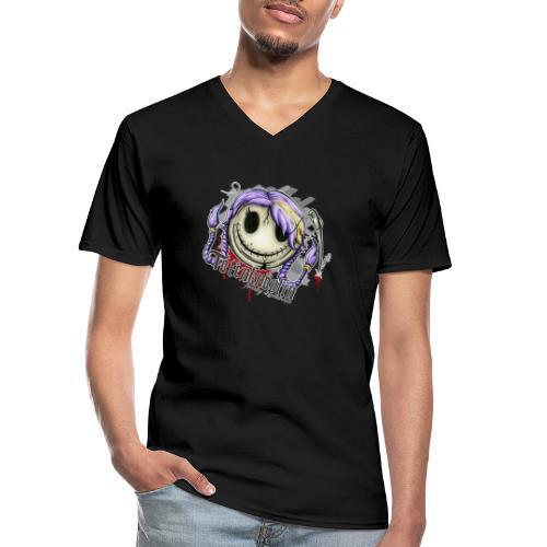 Totenknöpfin - Klassisches Männer-T-Shirt mit V-Ausschnitt