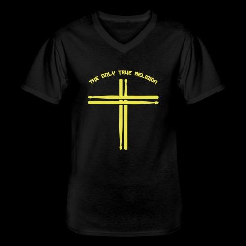 True Religion - Klassisches Männer-T-Shirt mit V-Ausschnitt