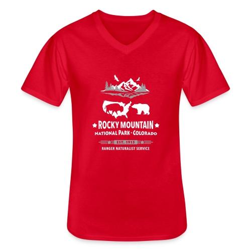 Rocky Mountain Nationalpark Berg Bison Grizzly Bär - Men's V-Neck T-Shirt