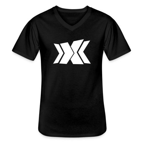RLC Weiß - Klassisches Männer-T-Shirt mit V-Ausschnitt