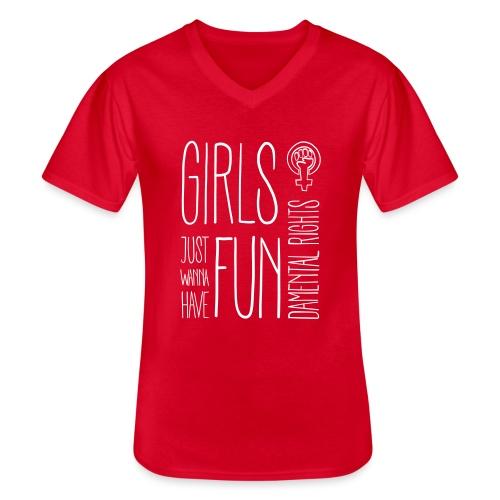 Girls just wanna have fundamental rights - Klassisches Männer-T-Shirt mit V-Ausschnitt