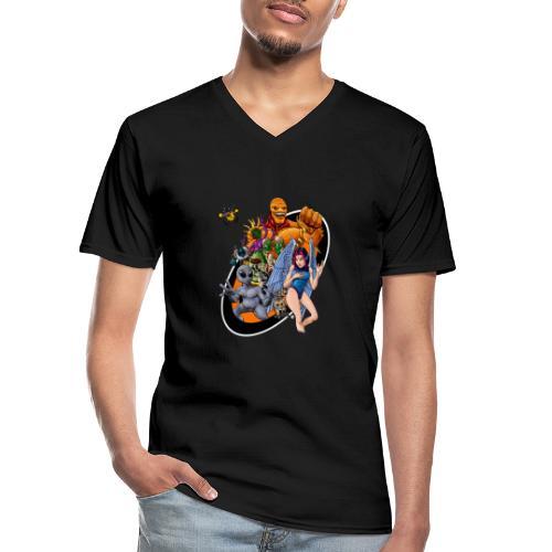 Startopia Character Emblem - Men's V-Neck T-Shirt
