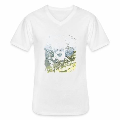 Pablo Escobar distressed - Klassisches Männer-T-Shirt mit V-Ausschnitt