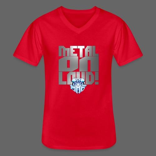 metalonloud large 4k png - Men's V-Neck T-Shirt