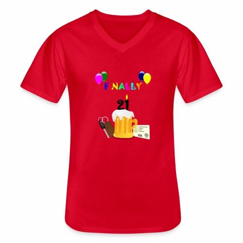 Finally 21 (2) - Men's V-Neck T-Shirt