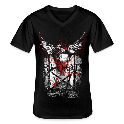 RAVEN | BLOOD SCREAM - Klassisches Männer-T-Shirt mit V-Ausschnitt