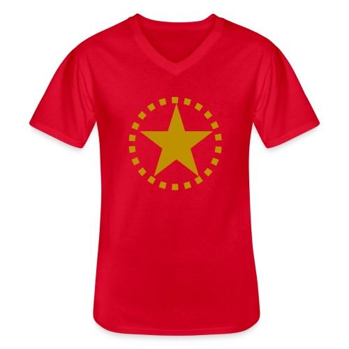 pixknapp png - Klassisk T-shirt med V-ringning herr