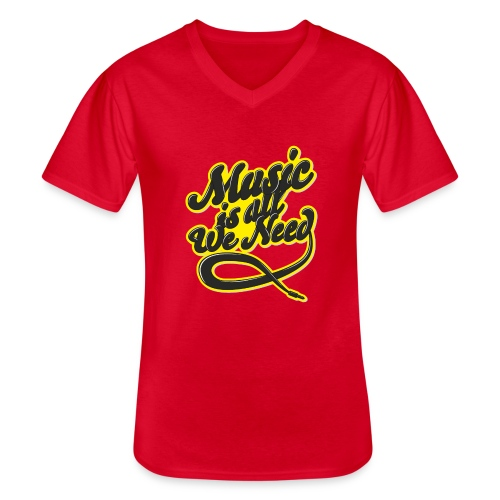 Music Is All We Need - Men's V-Neck T-Shirt