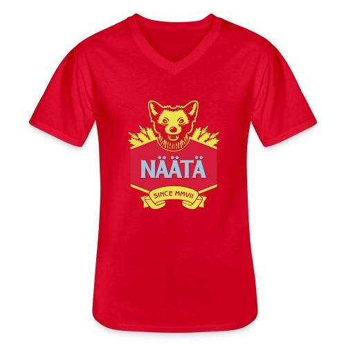 Näätä - Klassinen miesten t-paita v-pääntiellä