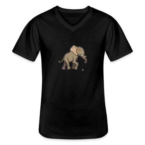 African Elephant (black edition) - Klassisches Männer-T-Shirt mit V-Ausschnitt
