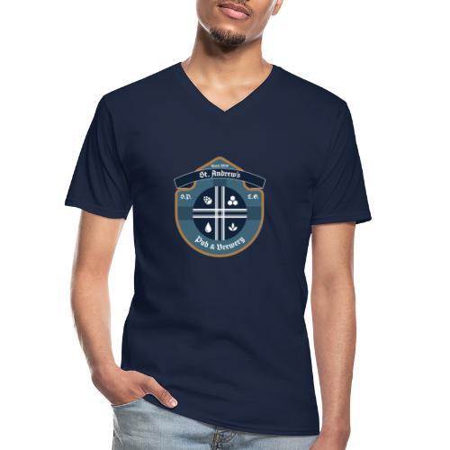 St Andrews T-Shirt - Maglietta da uomo classica con scollo a V