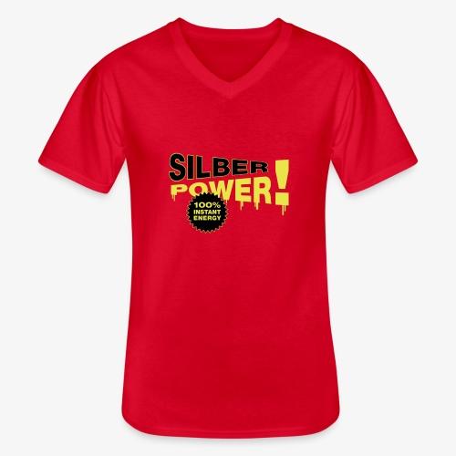 SilberPower! - Klassisk herre T-shirt med V-udskæring