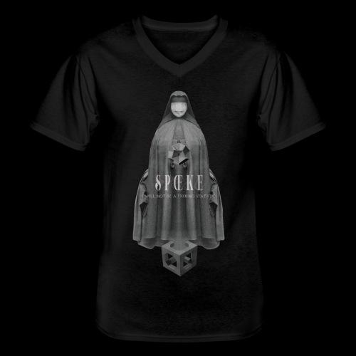 SPŒKE Amabie Design by Patrik - Men's V-Neck T-Shirt