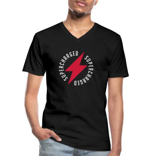Supercharged - Klassisches Männer-T-Shirt mit V-Ausschnitt