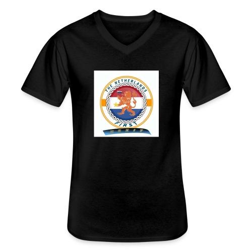 RF - Klassiek mannen T-shirt met V-hals
