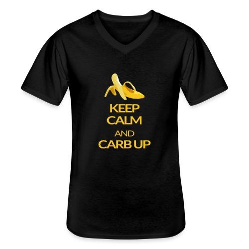 KEEP CALM and CARB UP - Klassisches Männer-T-Shirt mit V-Ausschnitt
