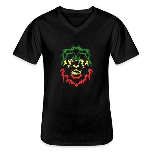 KARAVAAN Lion Reggae - Klassiek mannen T-shirt met V-hals