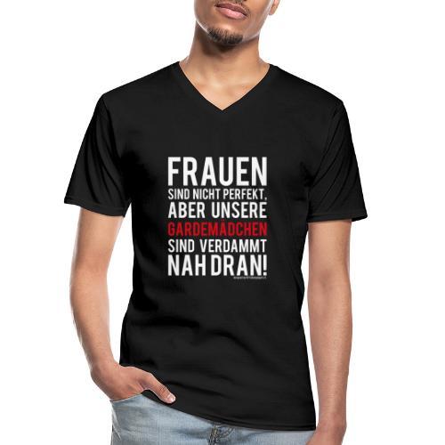 Frauen sind nicht perfekt - Klassisches Männer-T-Shirt mit V-Ausschnitt